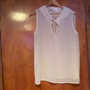 Joe Fresh White Polka-Dot Blouse